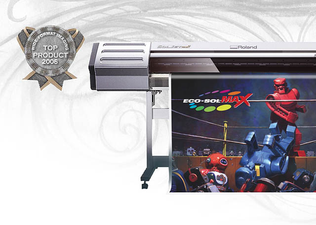 2006 Roland's SOLJET model printer and Eco-SOL MAX ink take Top Product of the Year honors with Wide Format Imaging Magazine.