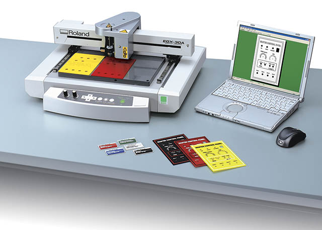 2009 Roland introduces the EGX-30A desktop engraver for entry level engraving.