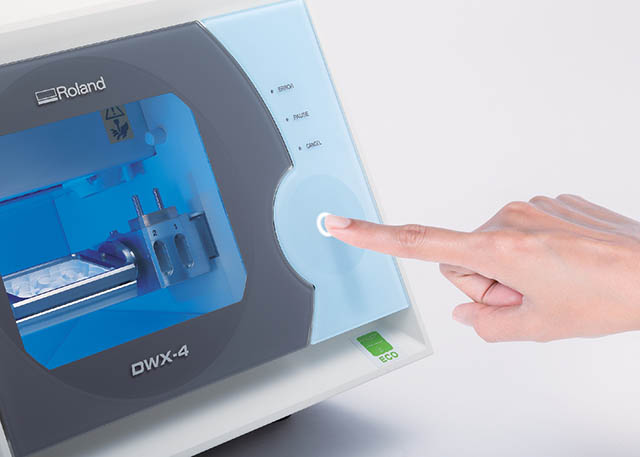 2013 With the addition of the revolutionary DWX-4 compact dental mill, Roland makes it easier and more affordable than ever for dental labs to digitally mill crowns, copings and bridges.