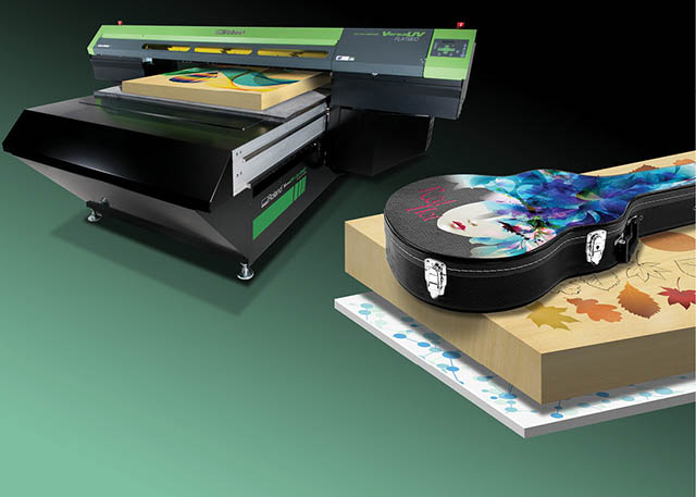 2014 Roland DGA develops the world's first and only wide-format flatbed UV printer capable of printing on materials up to 6-inches thick, the LEJ-640FT, built on the award-winning VersaUV platform.