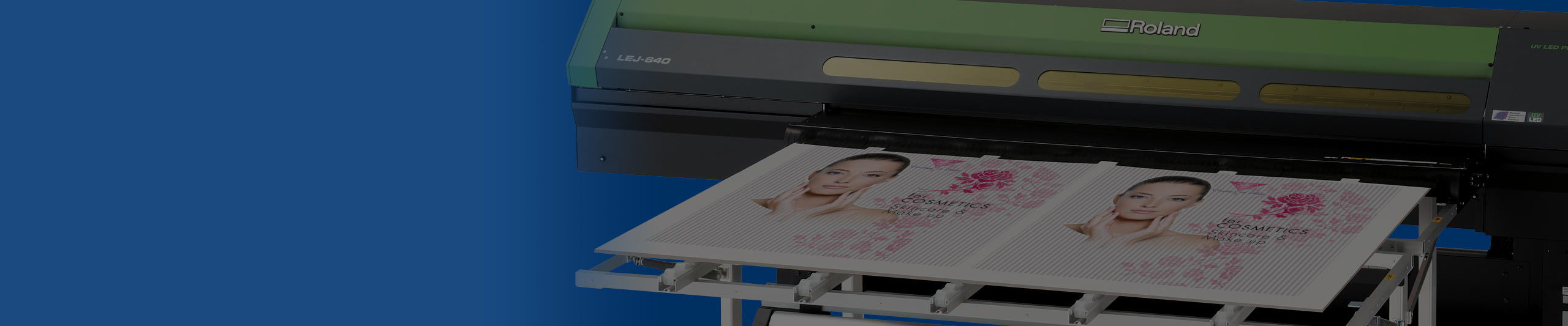 VersaUV LEJ Hybrid UV Inkjet Printer close up